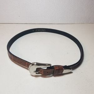 Joan & David brown leather belt size Small